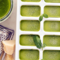 Learn How to Freeze Pesto so you can always have homemade pesto on hand to add to pasta, swirl in soups, slather on sandwiches and toss with vegetables