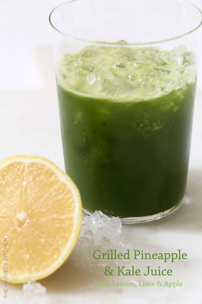 This Grilled Pineapple and Kale Juice is refreshing and delicious and rich with antioxidants, vitamins and minerals