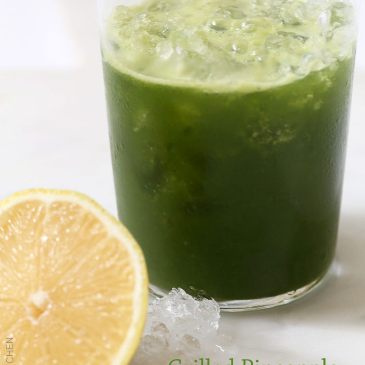 Grilled Pineapple and Kale Juice