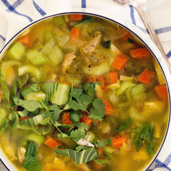 This Immune Boosting Chicken Soup is an easy soup recipe to make to keep your immune system strong during cold and flu season