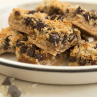 Easy to make, these Gluten Free Magic Cookie Bars are a healthy twist to a timeless classic