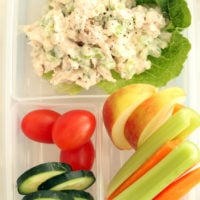 This Tarragon Chicken Salad is an easy chicken salad recipe made of chicken, celery, onion, parsley, tarragon tossed in a creamy dressing