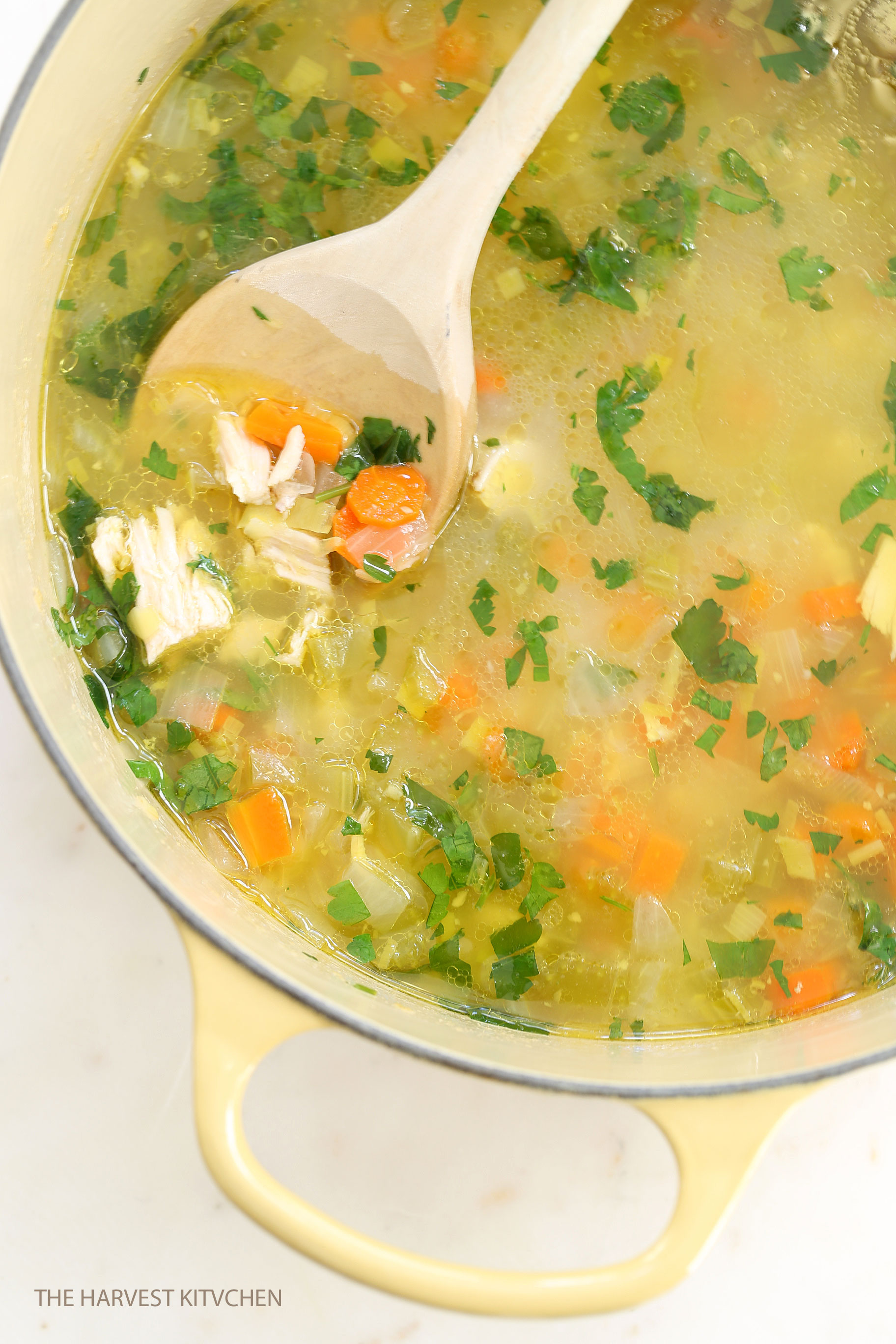 how to cook chicken broth soup