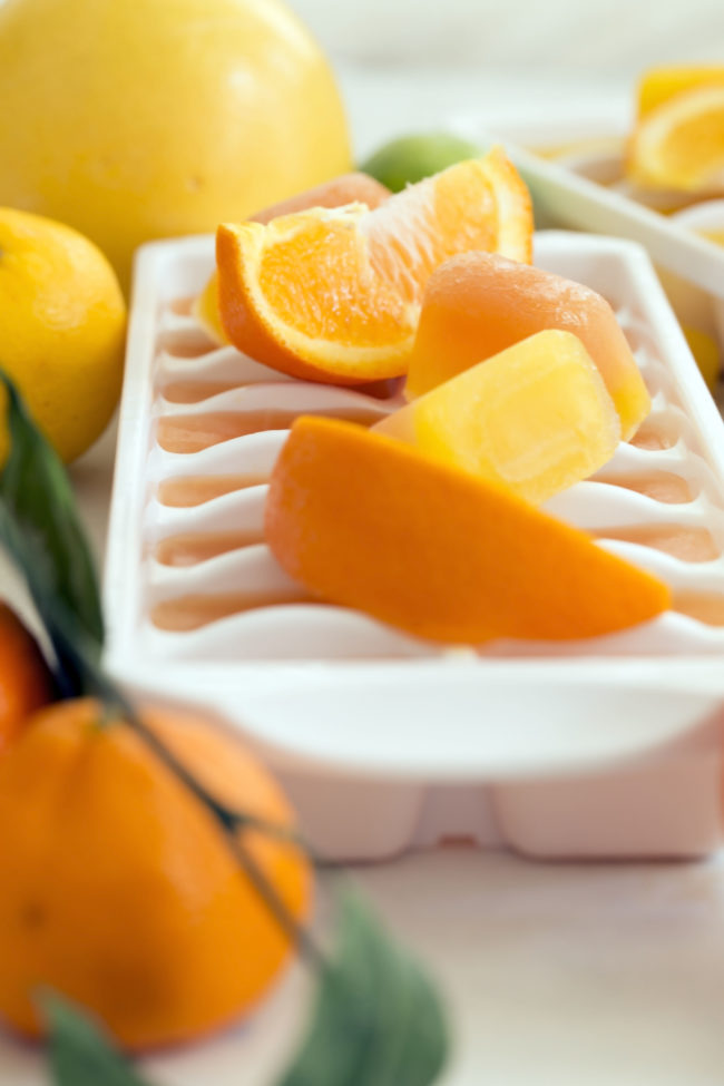 orange juice ice cubes