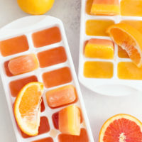 Add these Cold Fighting Ice Cubes to a tall glass of water to make a delicious detox drink