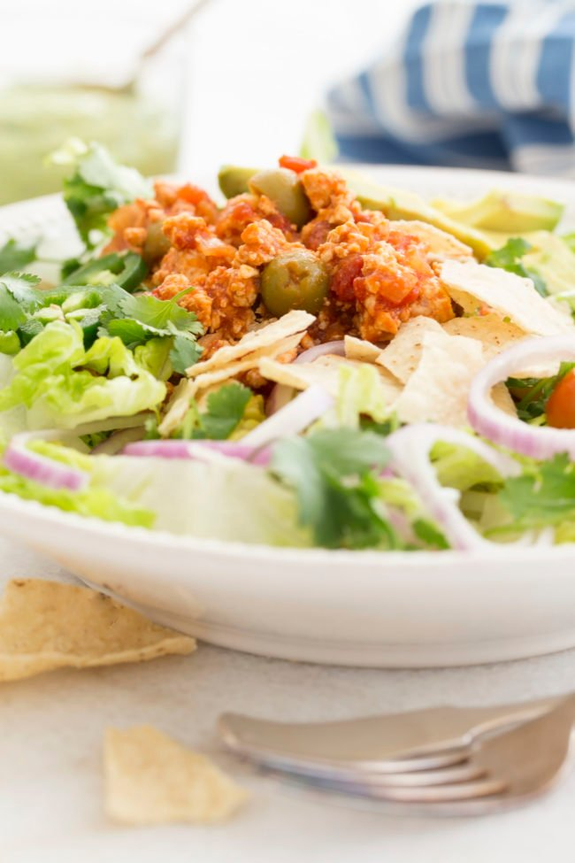 These Chicken Picadillo Bowls are light, healthy and delicious