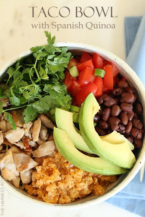 Taco Salad Bowls With Homemade Spanish Rice Recipe — Dishmaps
