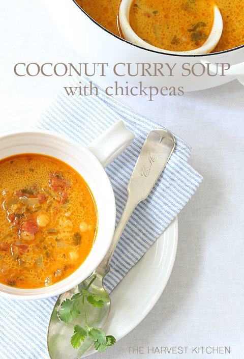 COCONUT CURRY SOUP WITH CHICKPEAS
