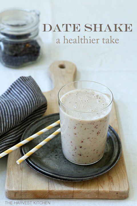 A Healthy Date Shake is made with dates, almond milk and frozen bananas and it makes a delicious vegan breakfast smoothie to start your day with