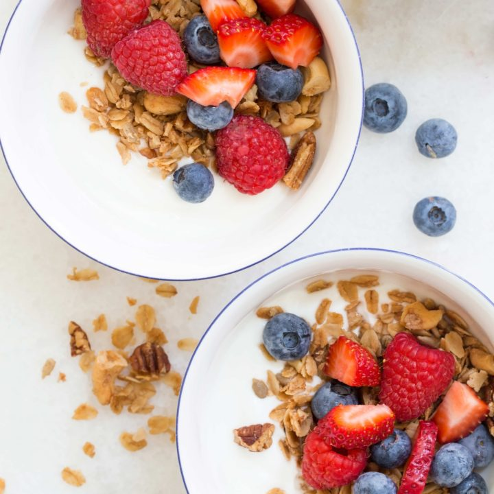 This is the Best Granola Recipe and it's loaded with cashews, pecans, almonds and sunflower seeds, and its lightly sweetened with pure maple syrup