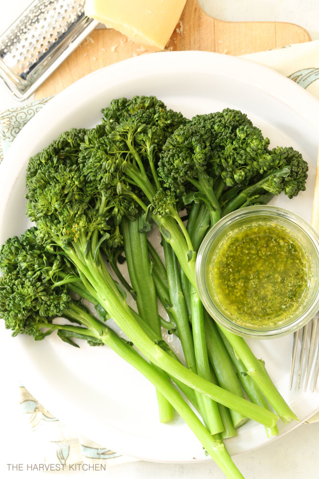 This Basil Pesto Broccoli is healthy and delicious and makes a great side dish that can be thrown together quickly any night of the week.
