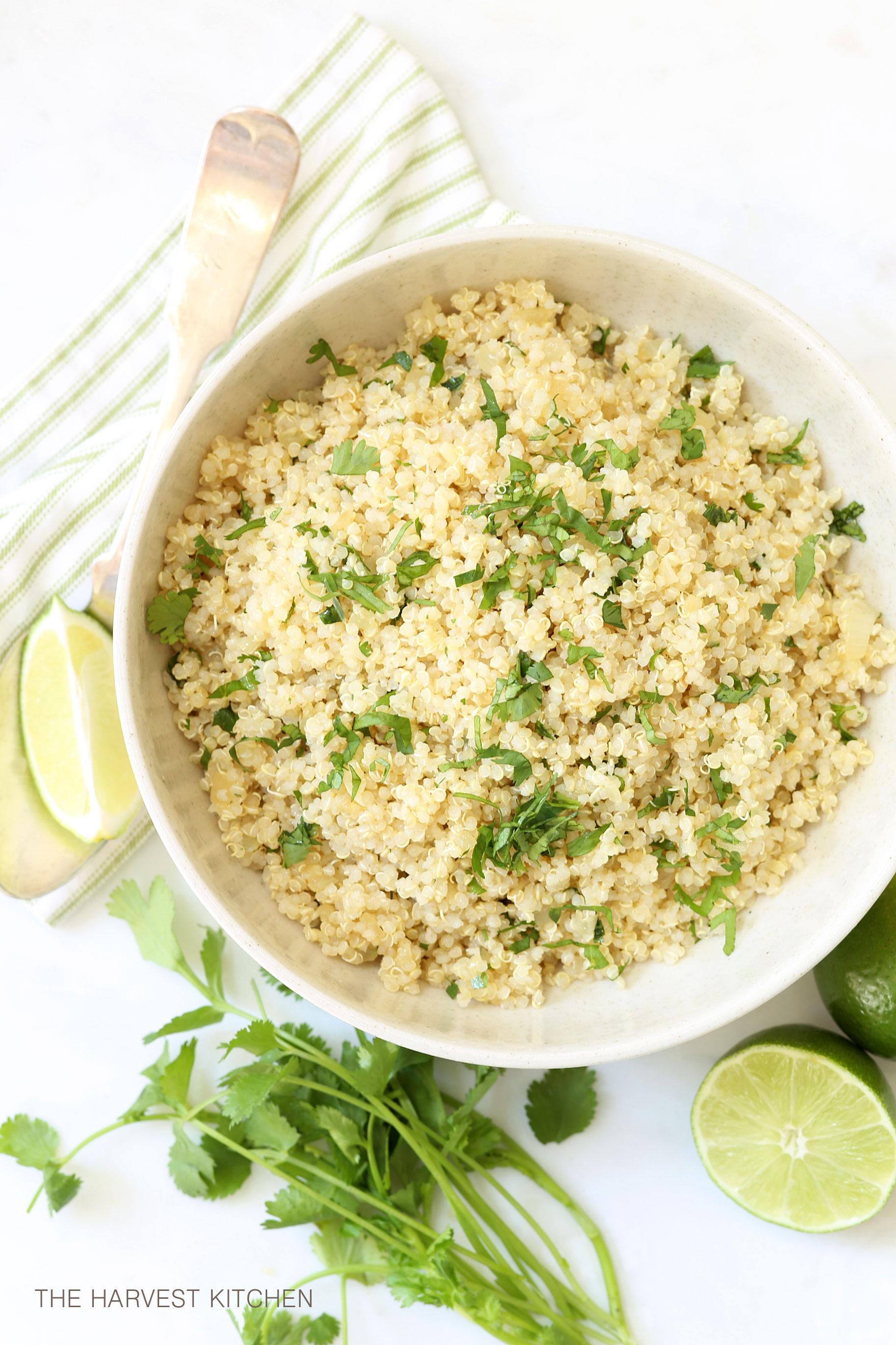Cilantro lime quinoa the harvest kitchen forumfinder Choice Image