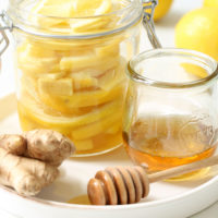 Keep a jar of these Detox Honey Lemon Ginger Slices in your fridge to conveniently add to warm water for detoxifying and immune boosting benefits