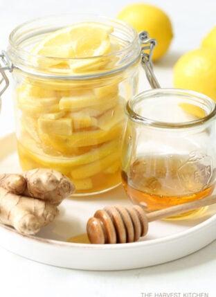 Detox Honey Lemon Ginger Slices