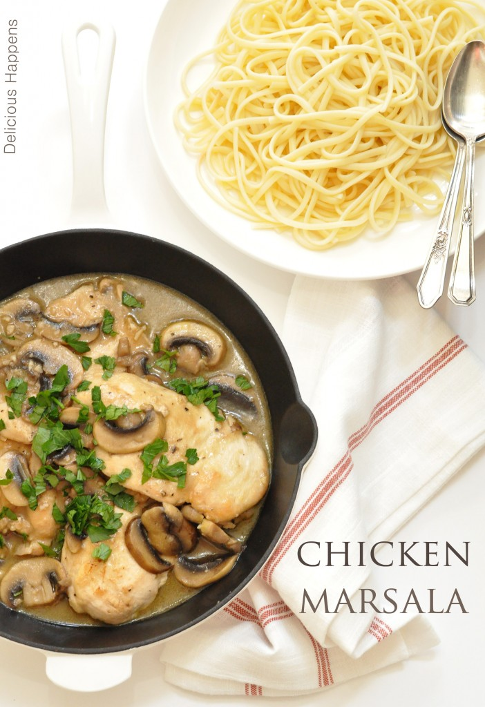 This Chicken Marsala is so rich and flavorful and the best part is this easy chicken marsala recipe pulls together in about 30 minutes