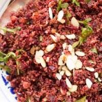 This Quinoa Beet Salad is a healthy combination of ingredients all tossed in a delicious curry salad dressing
