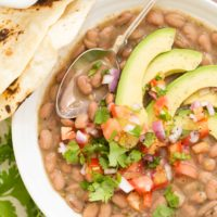 These Mexican Pinto Beans are made with pinto beans, onion, garlic and Mexican seasoning and they make a perfect side dish to to any Mexican or TexMex dish