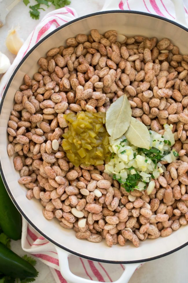 Pot of Mexican Pinto Beans