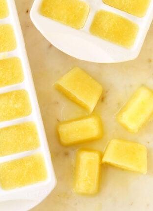 Immune Boosting Whole Lemon Ice Cubes