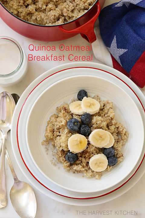 This Quinoa and Oatmeal Cereal is a healthy blend of quinoa and oats for breakfast