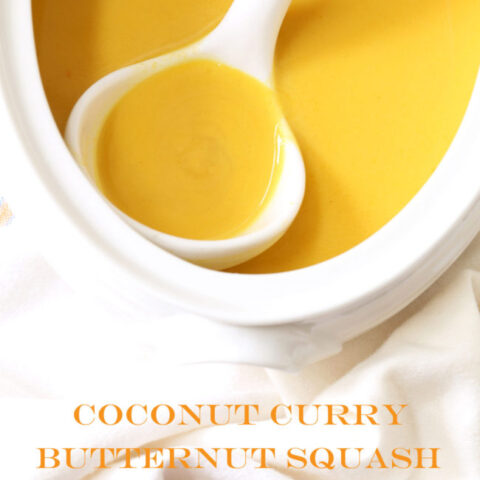 This vegan Coconut Curry Butternut Squash Soup is smooth and silky and it has a really incredible combination of flavors