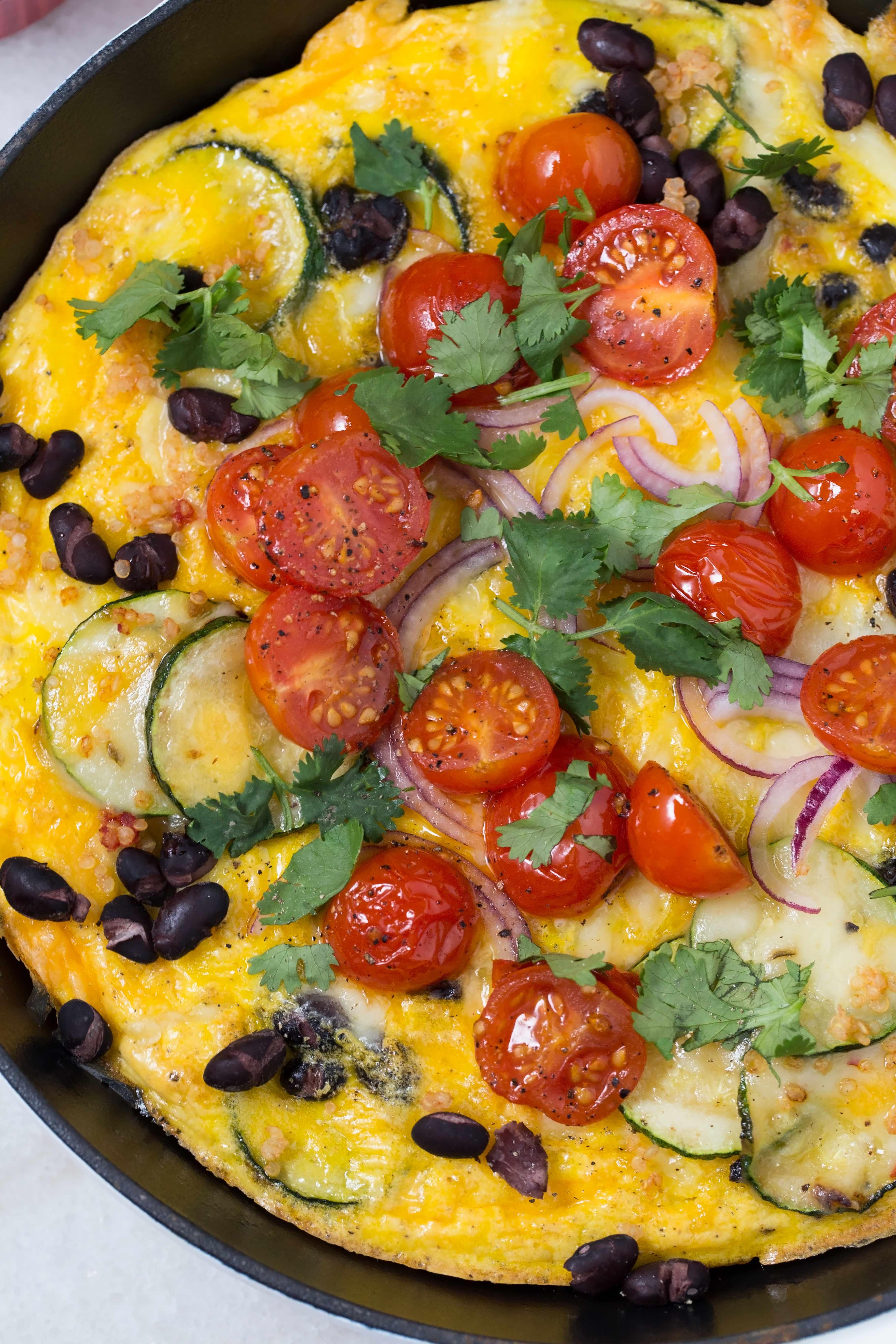 pan with Spanish Frittata
