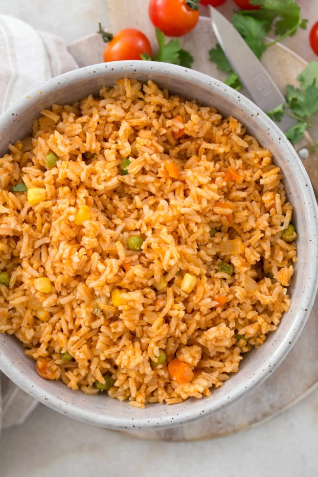 Homemade Spanish Rice (also known as Mexican Rice) is an easy one-pot side dish to serve with your favorite Mexican entrees