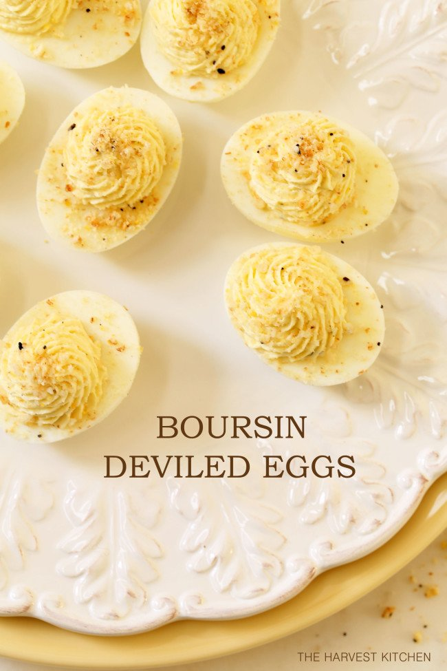 These Boursin Deviled Eggs make a delicious appetizer to serve your guests at your next party