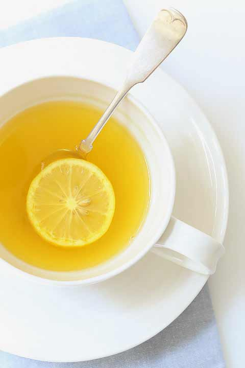 cup of lemon ginger drink