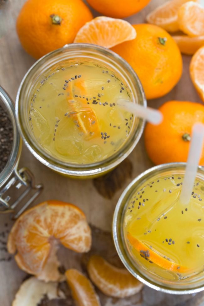 This Orange Chia Seed Drink is a refreshing and nutritious drink made with water, orange juice and chia seeds and loaded with nutritional benefits