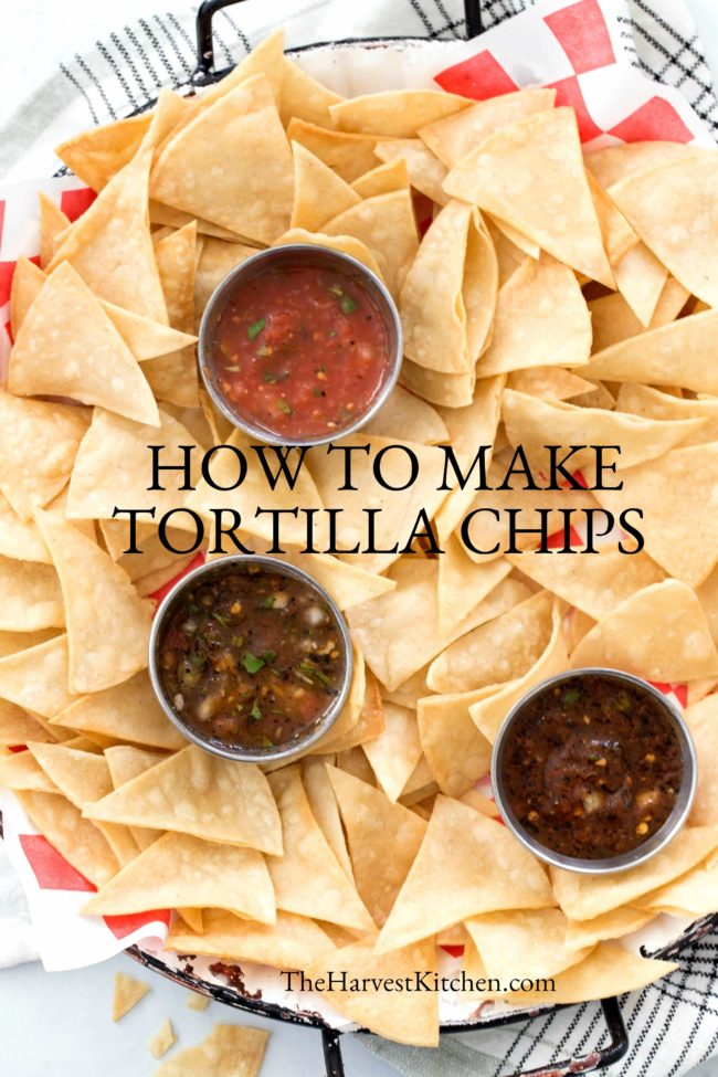 Learn How to Make Homemade Tortilla Chips so they turn out deliciously crispy and perfect to serve with salsa, guacamole and bean dip