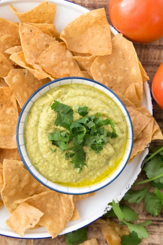 This delicious and slightly spicy Jalapeno Hummus has an incredible combo of flavors with green chiles, cilantro, cumin  and garlic
