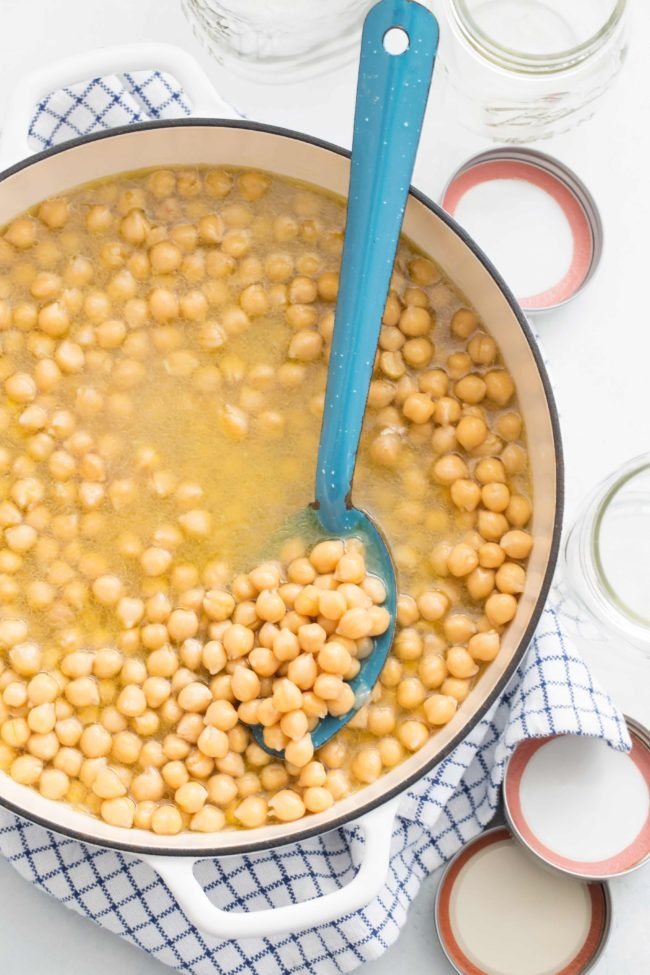 Learn How to Cook Chickpeas from scratch so they turn out tender, creamy and flavorful to add to soups, salads and stews