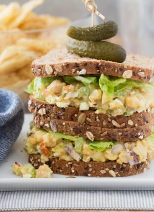 Easy Chickpea Egg Salad