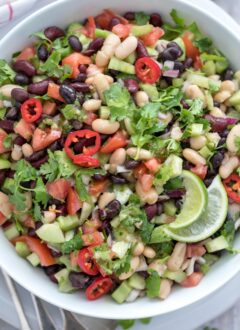 bowl of three bean salad