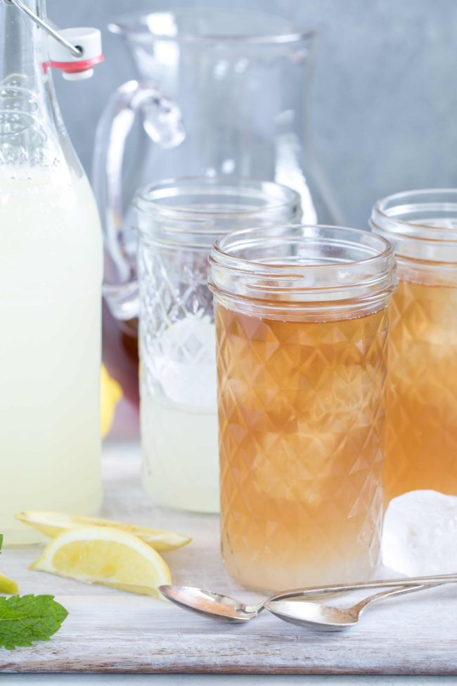 Arnold Palmer Drink (also referred to as Arnold Palmer Iced Tea and Sweet Tea) is a delicious blend of iced tea and lemonade that makes a refreshing drink to serve during summer