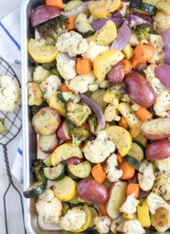 These Oven Roasted Vegetables are made with a mix of fresh vegetables, tossed in olive oil and seasoned with Italian seasoning
