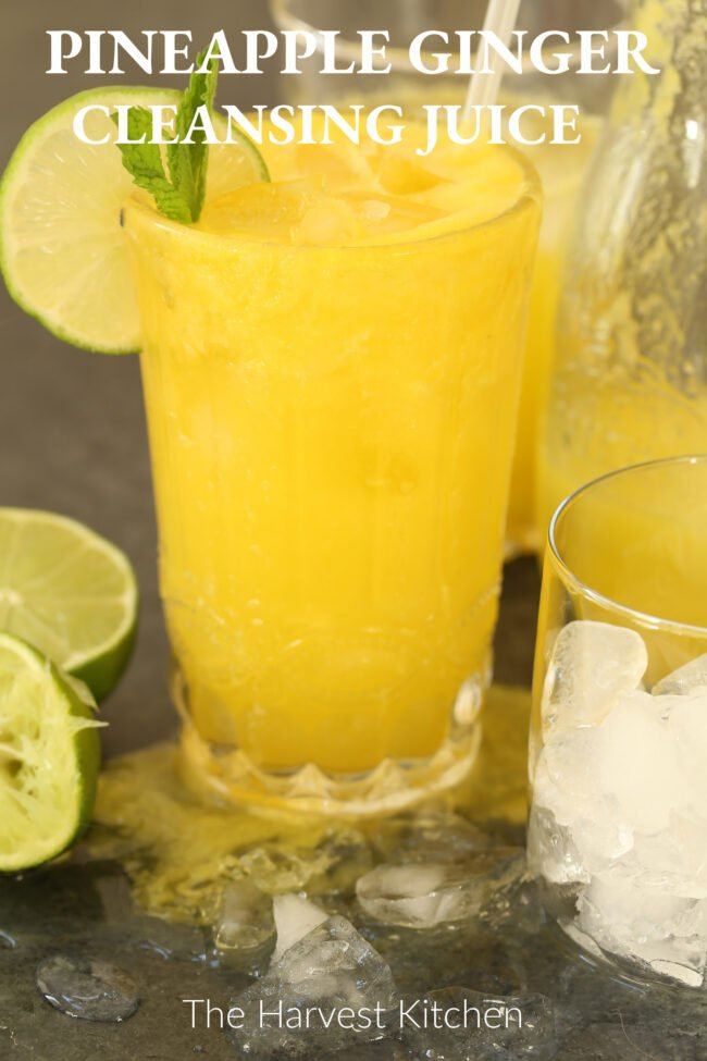 glass of pineapple ginger juice