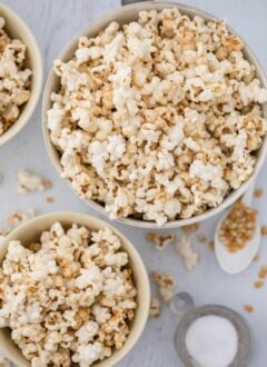 bowls of kettle corn