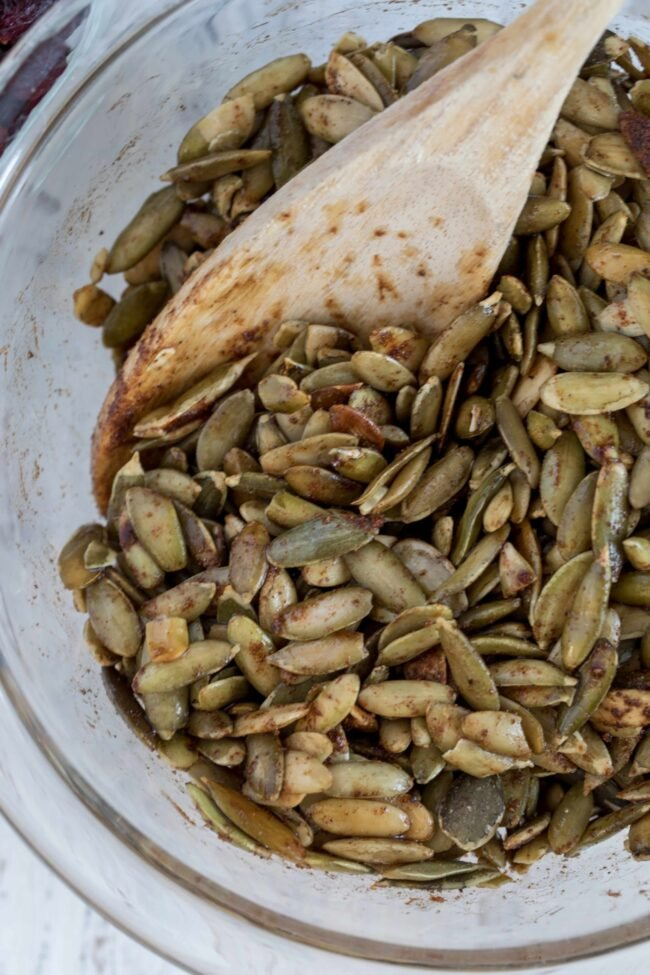 bowl of raw pepitas