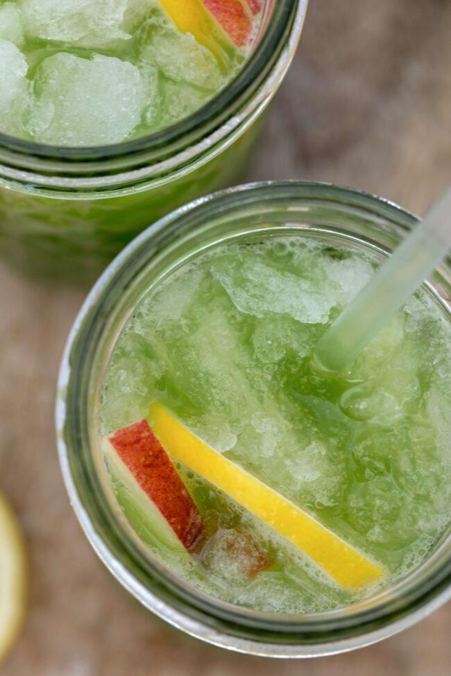 glass of celery juice