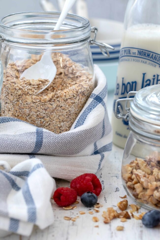 jar of toasted oats