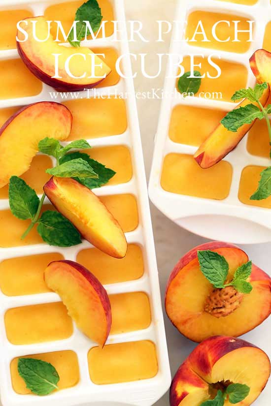 peach ice cubes for healthy water flavoring