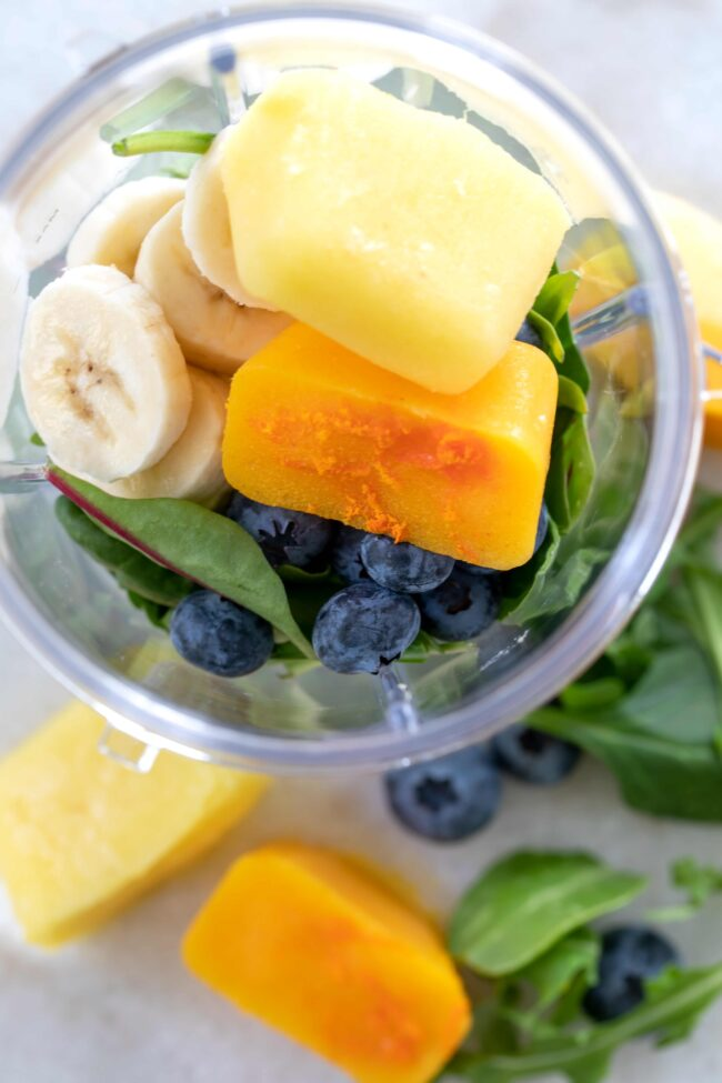 smoothie cubes made with antioxidant rich foods