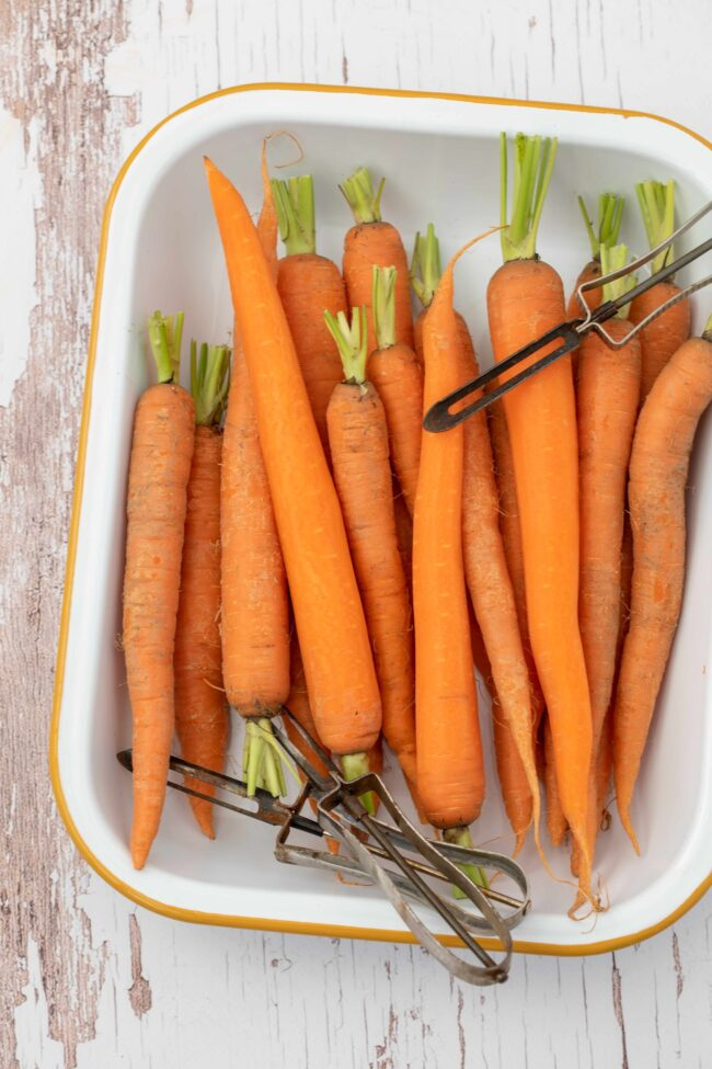 plate of root vegetables