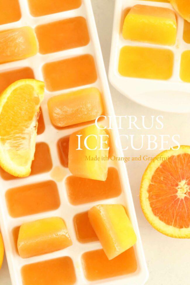 orange juice ice cubes