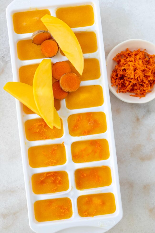 fruit ice cubes made with antioxidant rich foods
