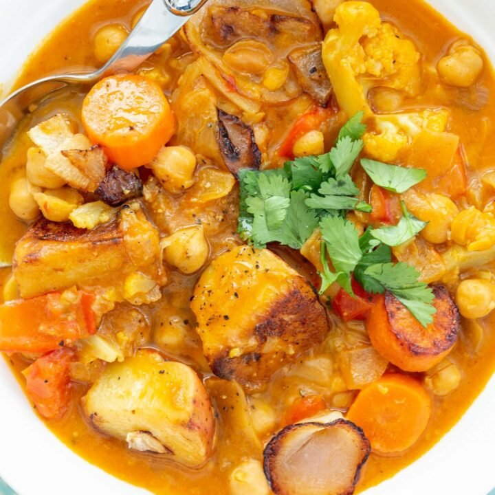 bowls of vegetable stew recipe