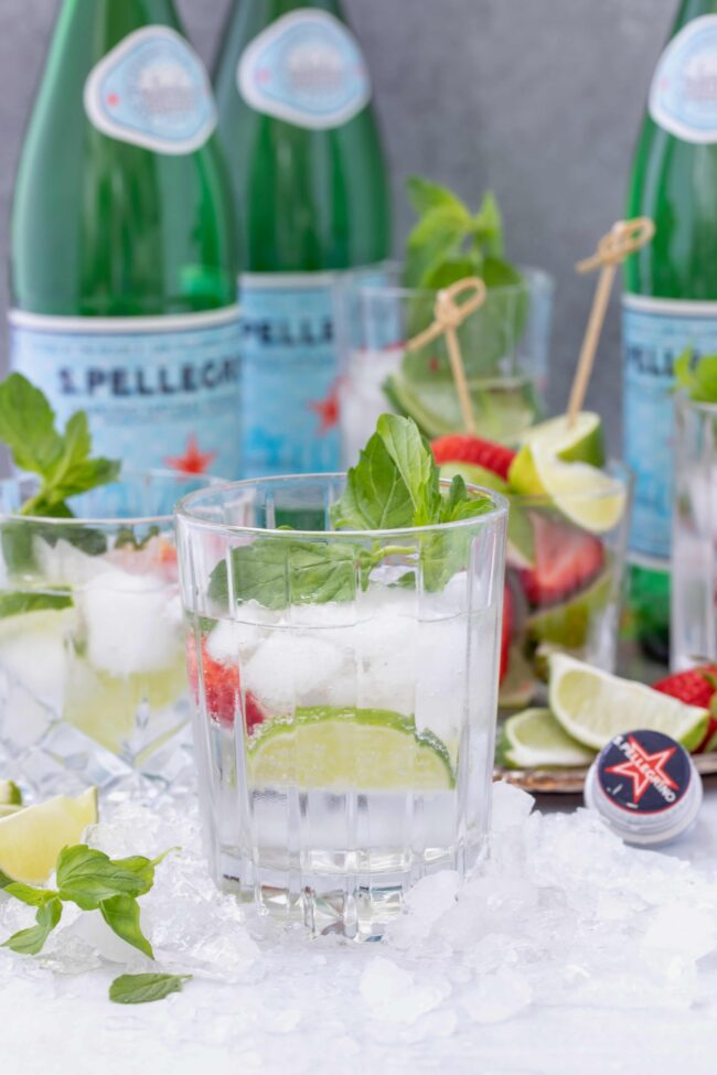bottles of Pellegrino