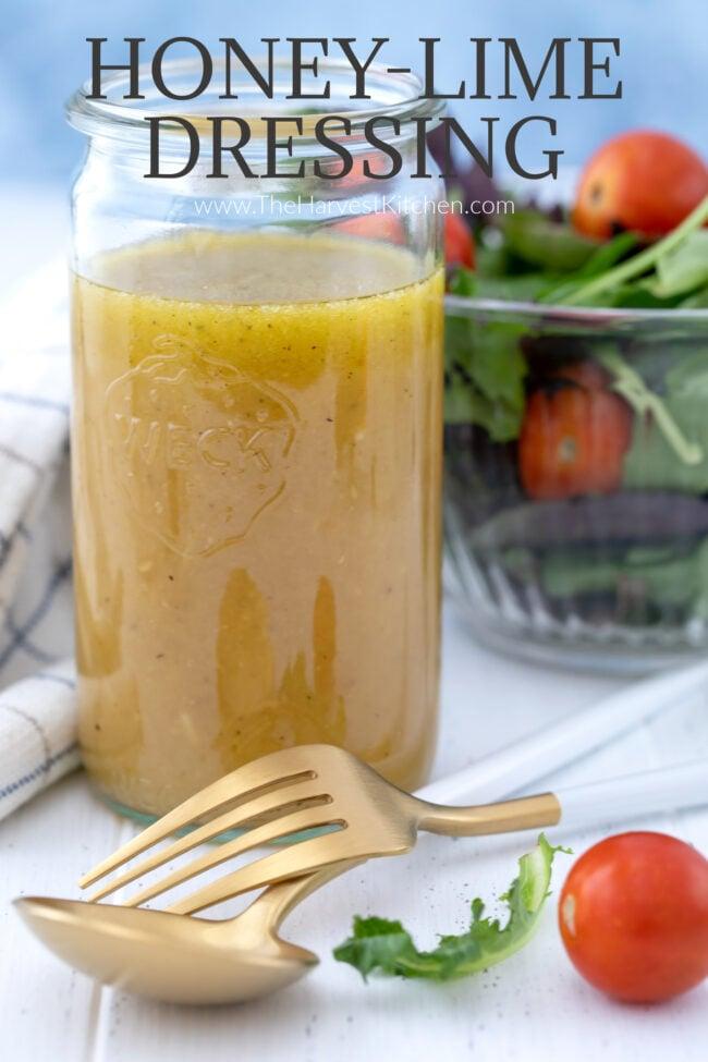 lime juice benefits - jar of citrus vinaigrette